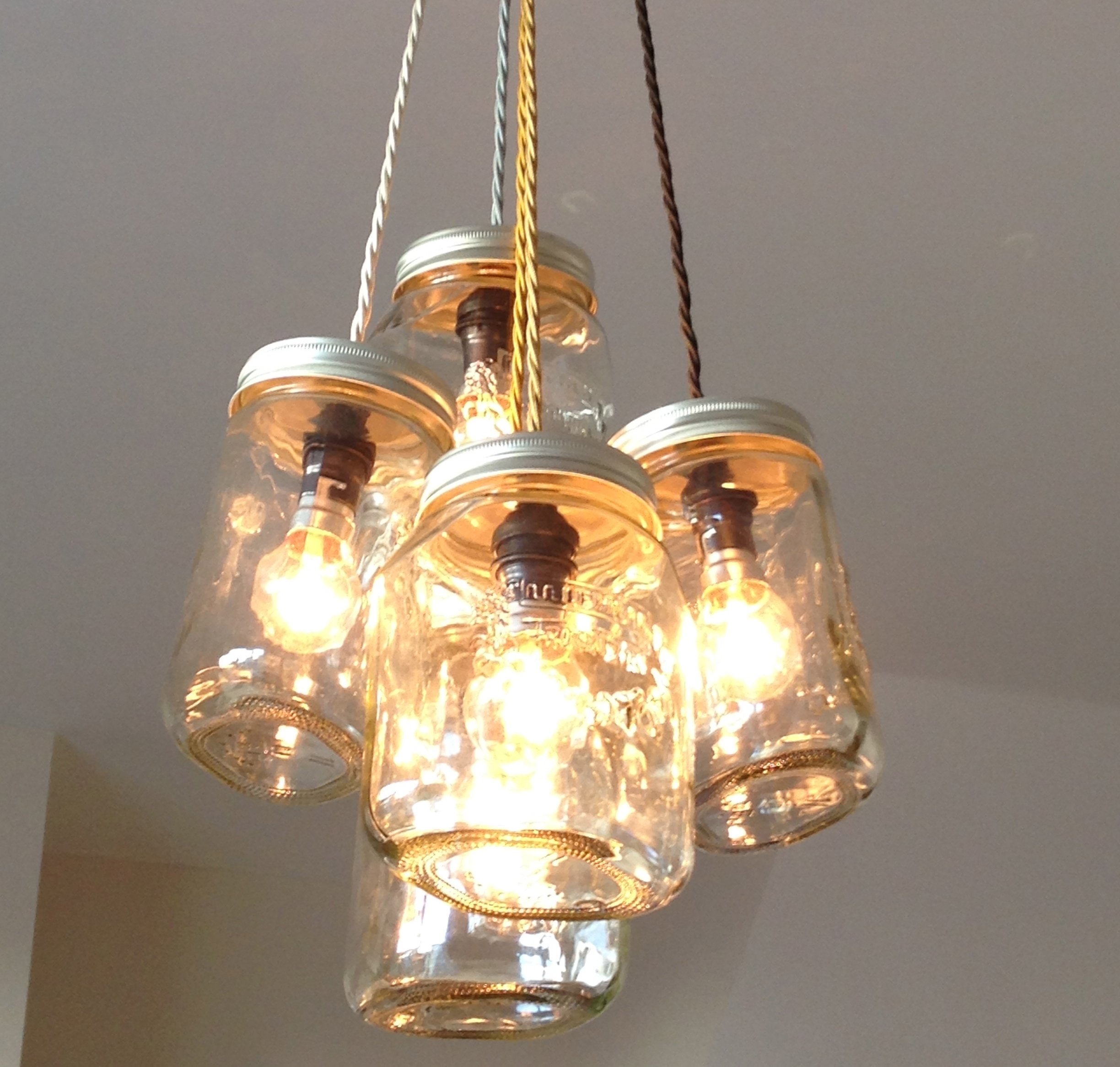 The Salvage Sister on Channel 4 - Jam Jar chandelier on Fill your House for  Free