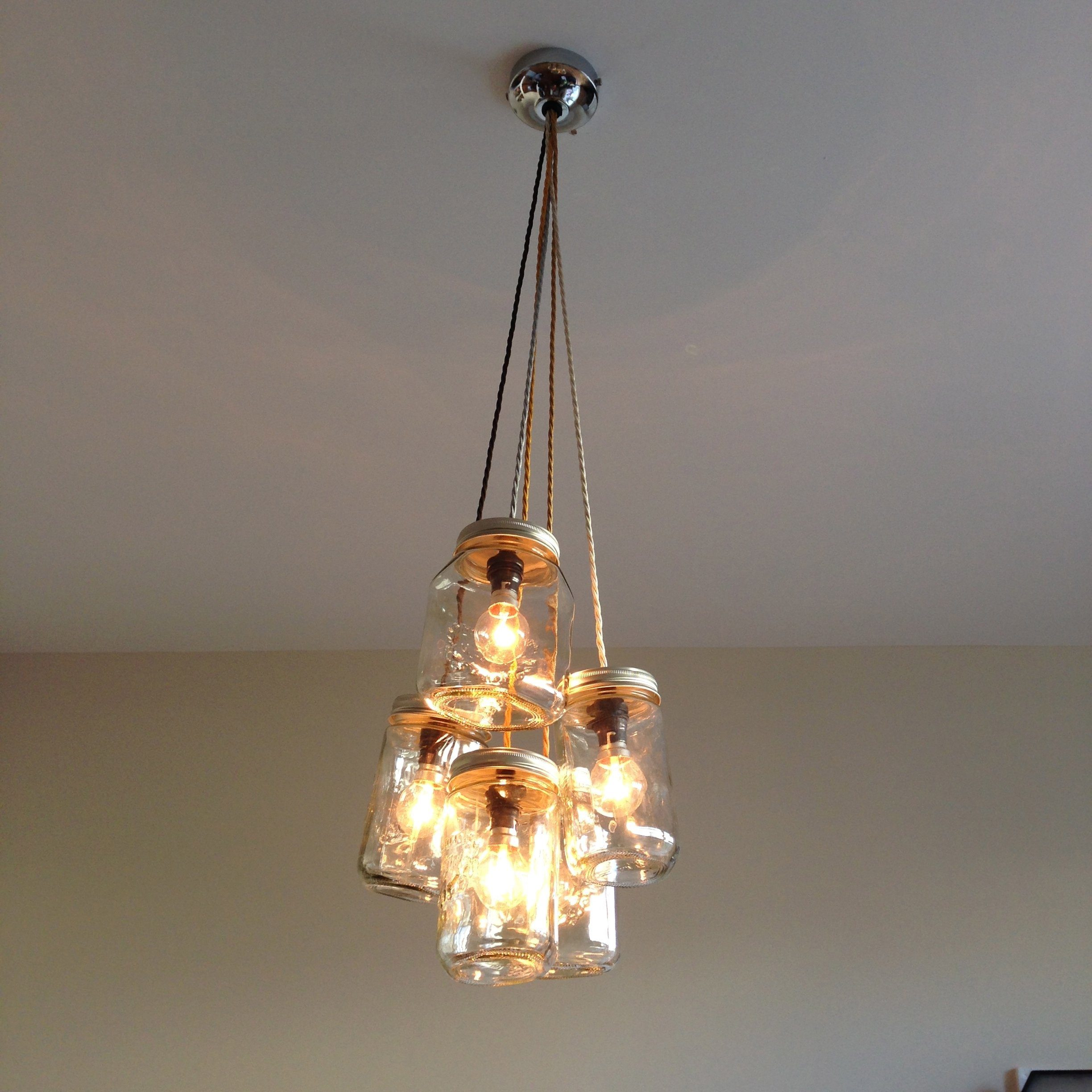 Captivating The Salvage Sister On Channel 4 Jam Jar Chandelier On Fill Your House For  Free
