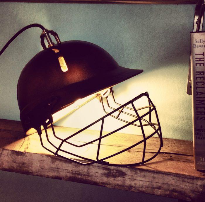 Upcycled-industrial-cricket-helmet-lamp