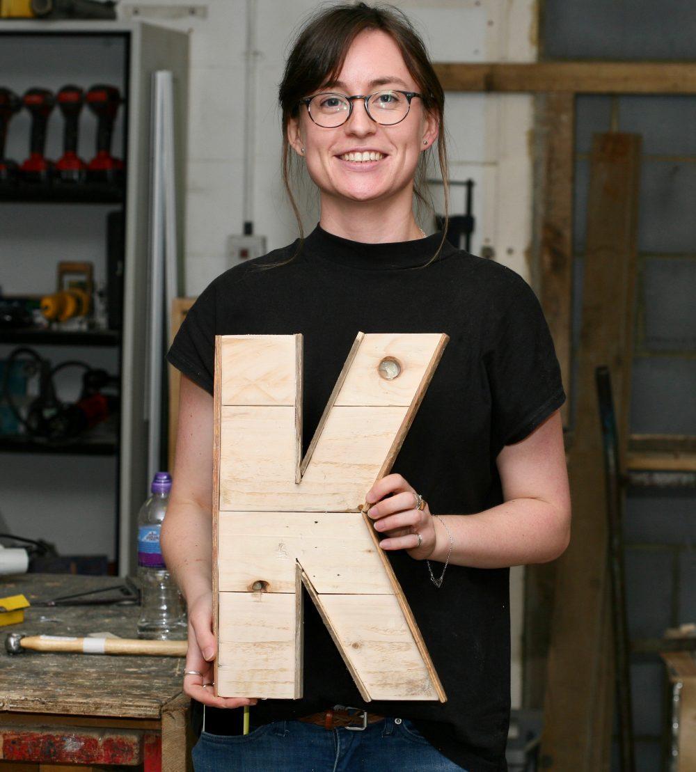 handmade Wooden letter K