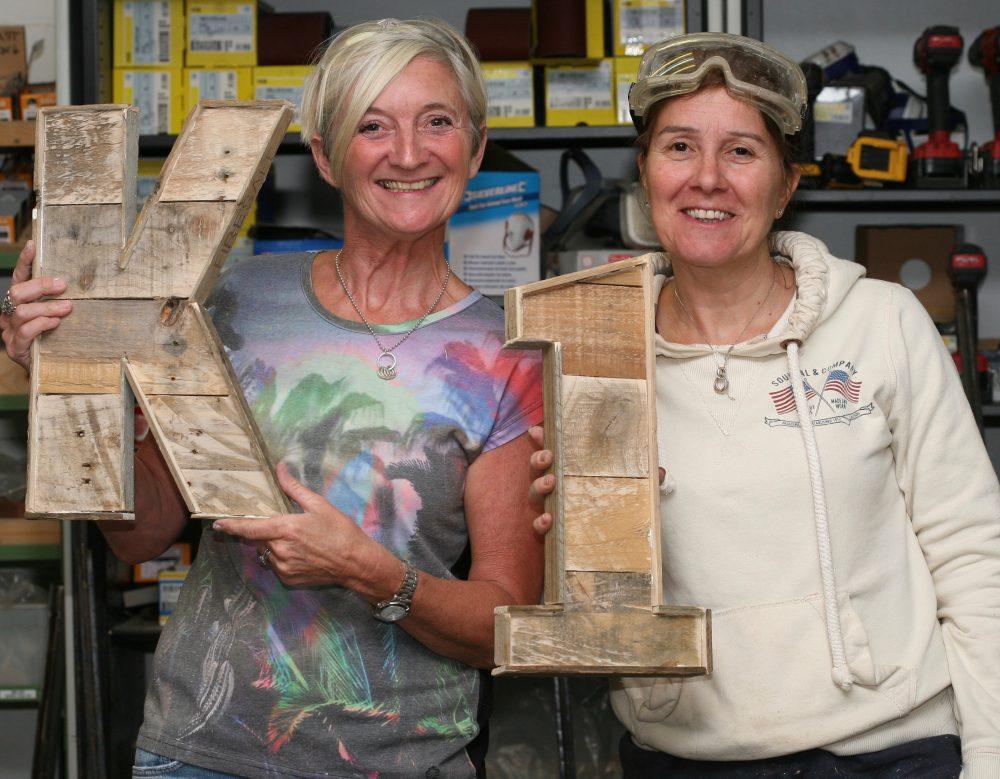 wooden letter workshop in Brighton