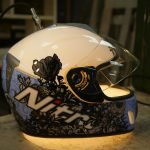 Motorcycle helmet lamp