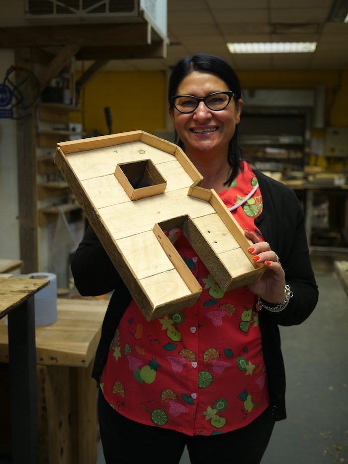 Wooden letter workshop