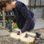 wooden letter workshop class in brighton