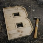 Wooden letter B, make a wooden letter in this fun workshop
