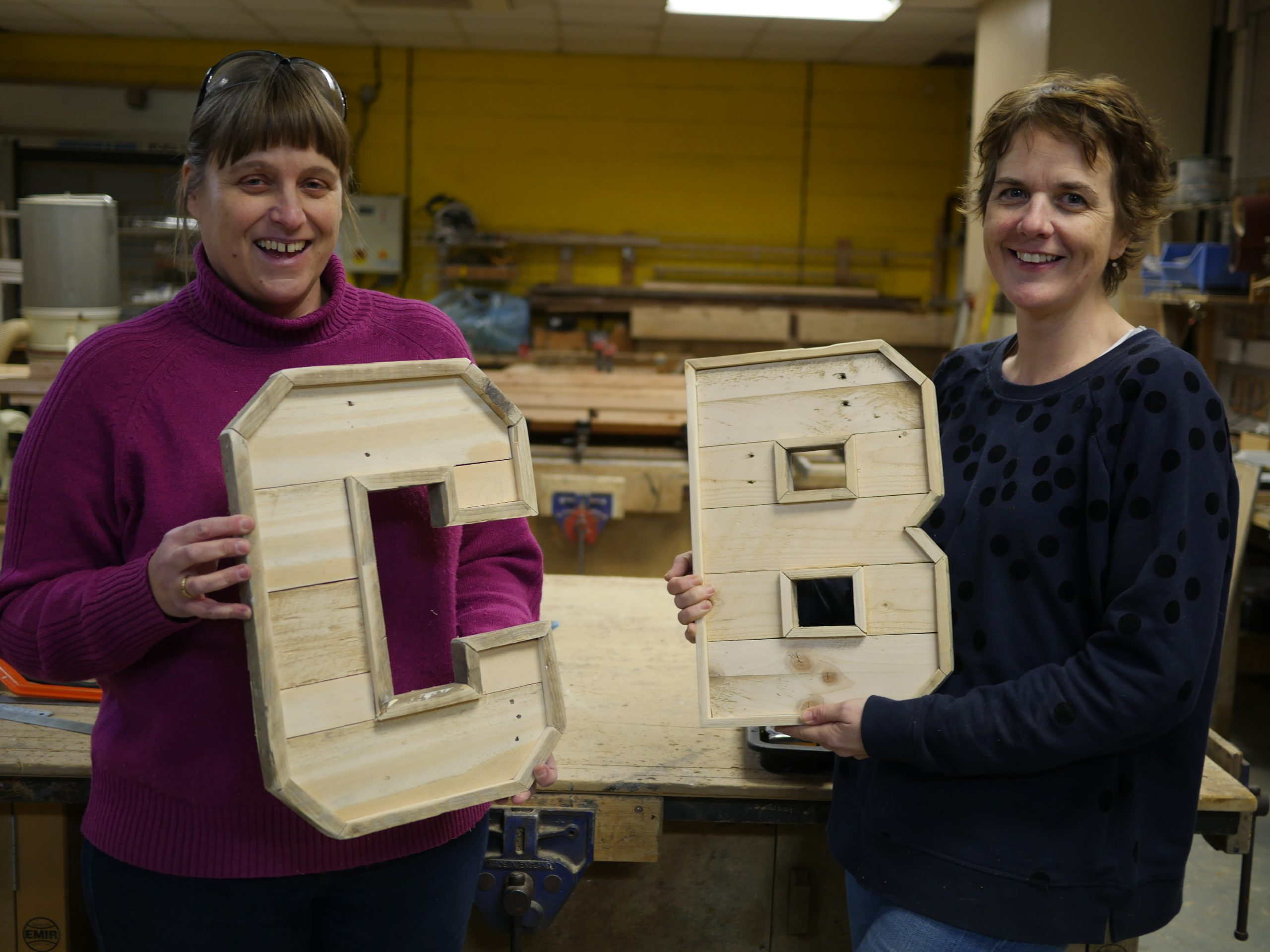 Making wooden letters from pallets in brighton