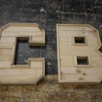 make a wooden letter from scratch