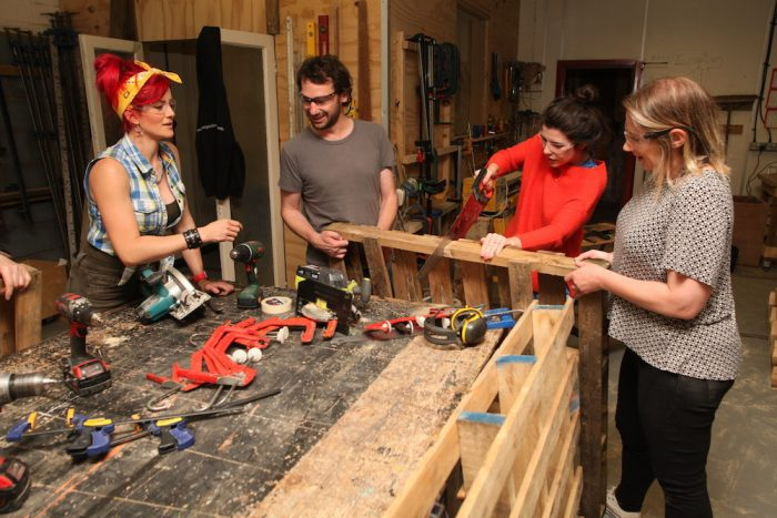 learning to use woodworking tools