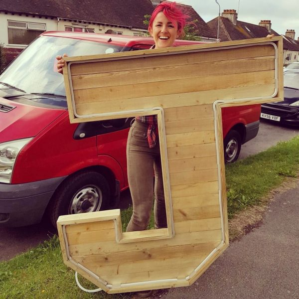 5 foot extra large wooden letter sign
