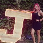 big light up wooden letters for outdoor events