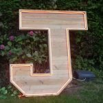 Extra large wooden letter UK