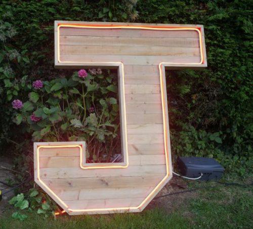 Extra large wooden letter UK