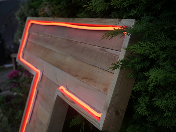 Wooden light up letters