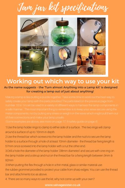 Jam jar lamp tutorial