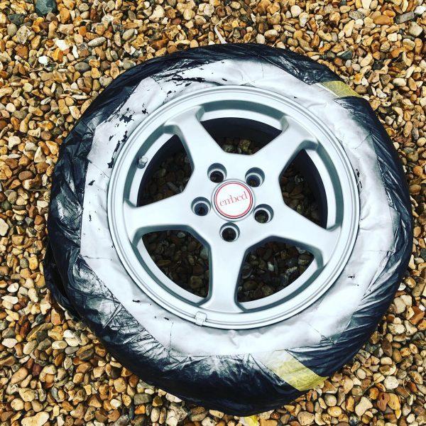 car wheel after refurbishment