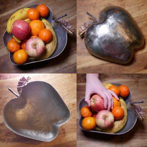 Designer Forged Steel apple fruit bowl