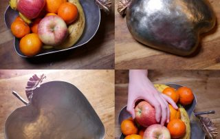 Designer Forged Steel apple fruit bowl