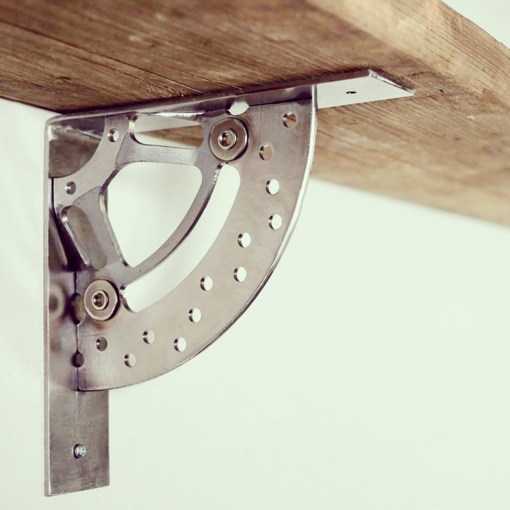 Industrial design Motorbike break disk shelf bracket