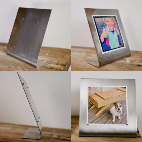 magnetic steel photo frame