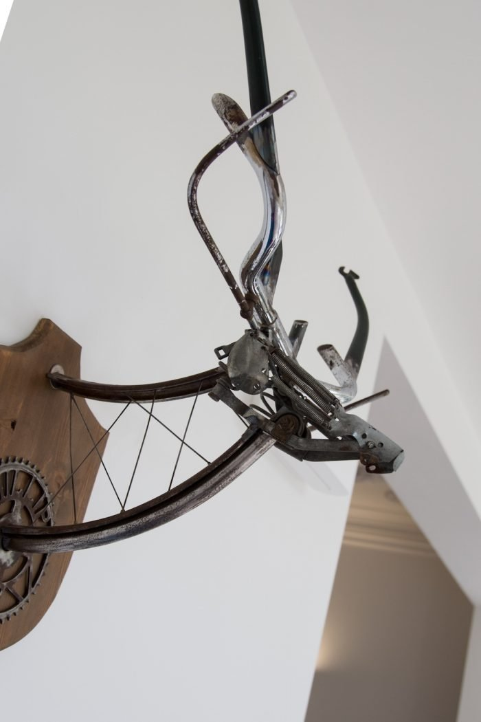Welded metal wall art stag head on channel 4 with George Clarke