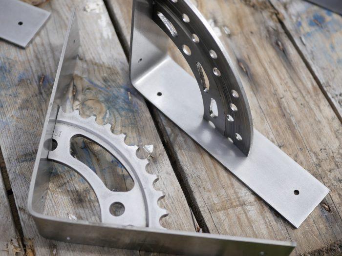 motorcycle sprocket shelf brackets