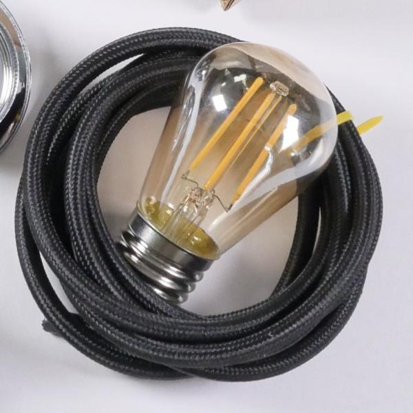 ST45 S14 LED 4W light bulb vintage style amber glow