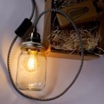 ball mason jar lamp