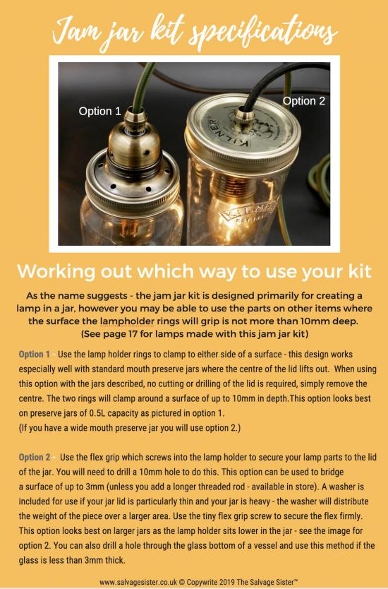 jam jar lamp making tutorial download