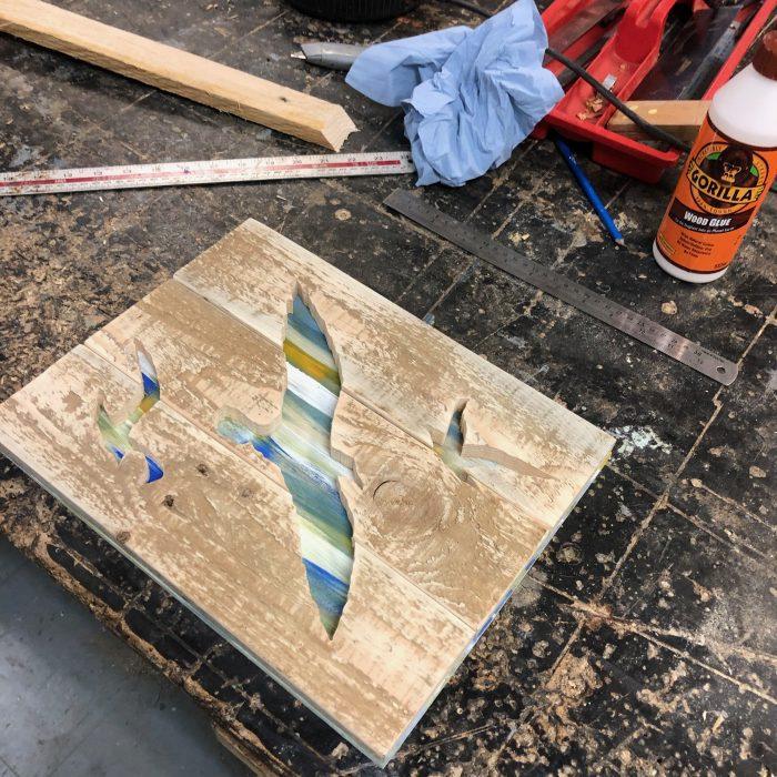nature inspired pallet art ready for framing