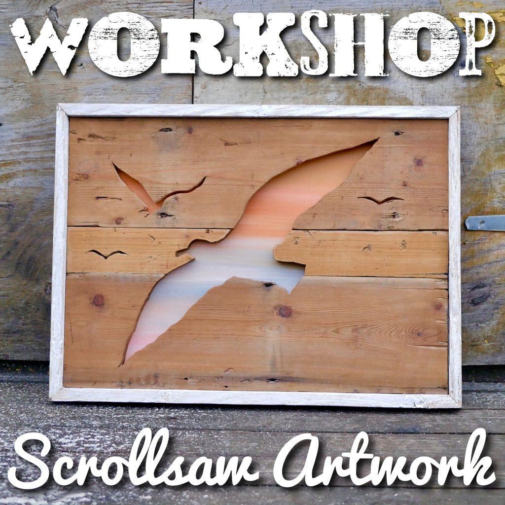 scrollsaw wooden artwork short crafting course brighton