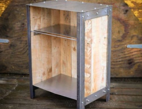 Industrial Style bedside table – Steel & reclaimed wood