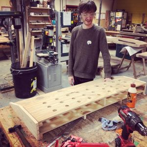 Making a musicians peddle board from salvaged wood and pallets