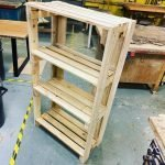 Shelving and storage made using pallets