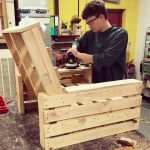 How to make an arm chair from free pallets