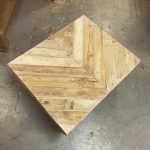 how do you make a chevron design in wood