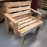 pallet bench made in brighton at pallet furniture workshop