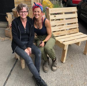 we learned to make pallet furniture in Brighton workshop class