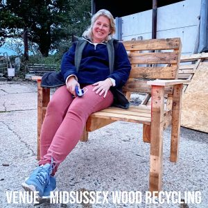 Easy build pallet garden bench