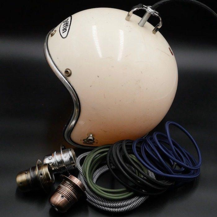 how to make helmet lamp
