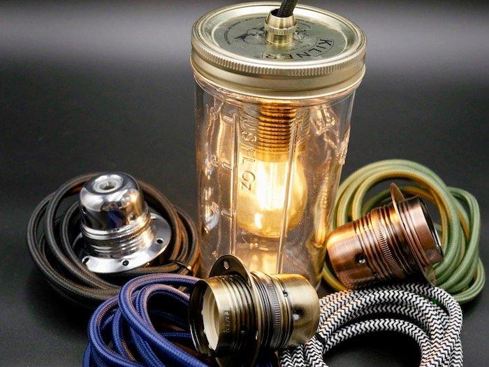 easy way to make a jam jar lamp
