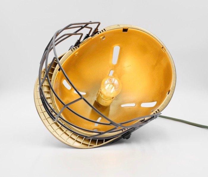 gold and black custom helmet lamp