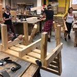using powertools to make pallet seats and benches