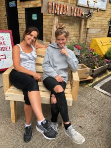 we made a pallet bench from scratch in Brighton