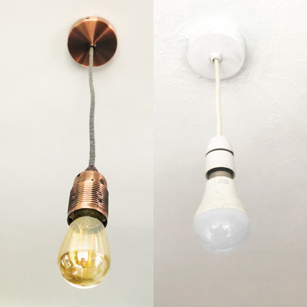 update old plastic light fittings to contemporary metal ones how to