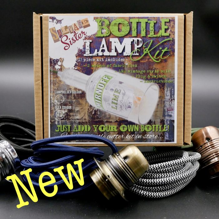 How to turn a bottle into an electric lamp DIY kit