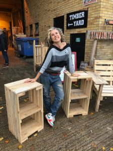 bedside table project using pallets