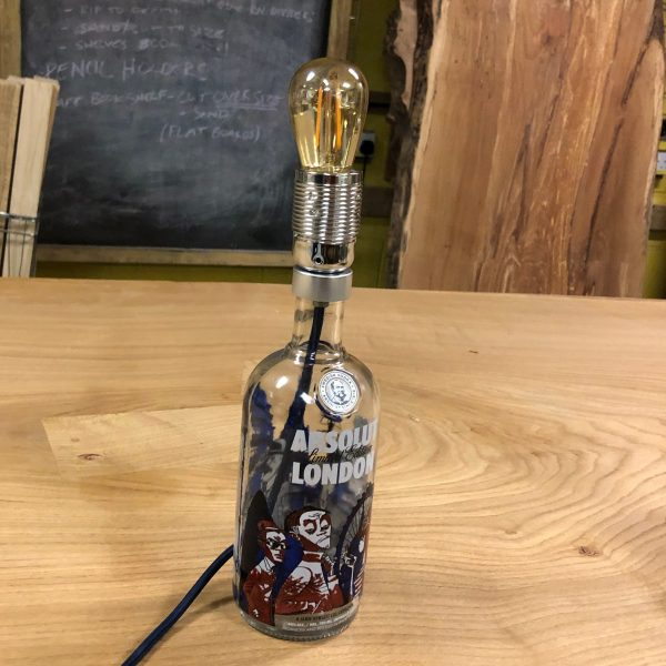 How to make a lamp from an old wine, gin or vodka bottle
