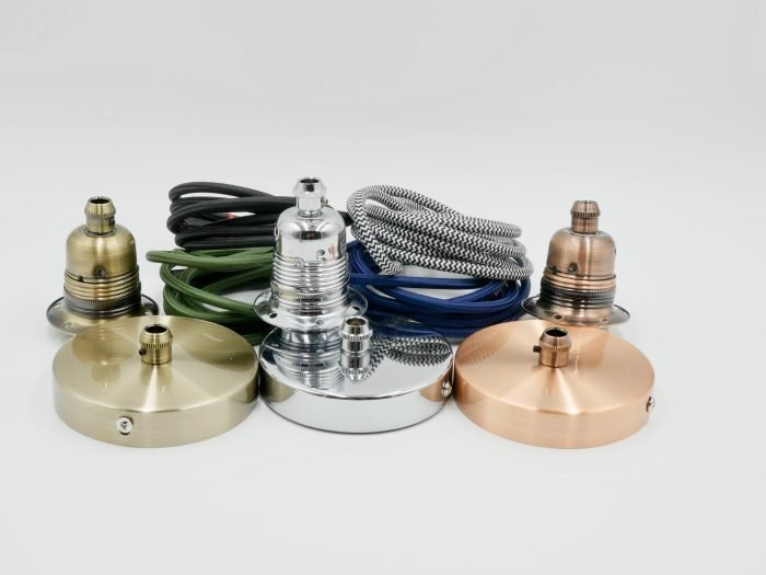 Change original light fittings for quality metal lighting parts ceiling rose lamp holders and flex