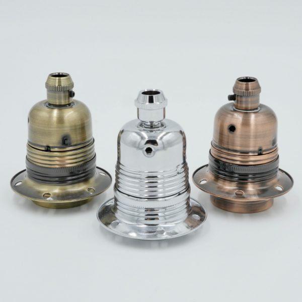 metal E27 lampholders