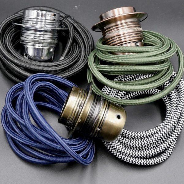 metal E27 lampholder & kits